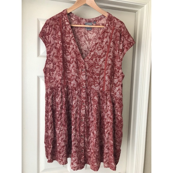 be4abc2b464 Anthropologie Tops | Vanessa Virginia Ladder Lace Tunic | Poshmark